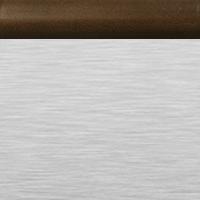 Brushed Aluminum with Espresso Rail