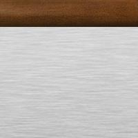 Brushed Aluminum with Traditional Mahogany Rail